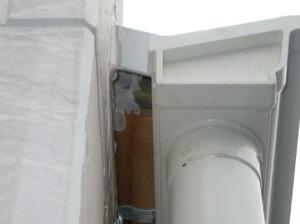 住宅軒裏の施工不良