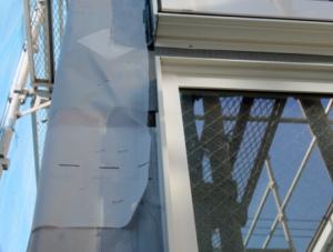 防水紙施工不良