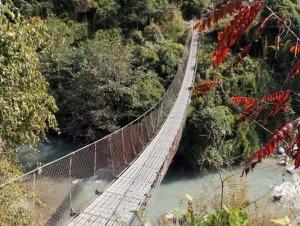nepal吊り橋