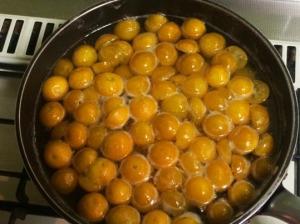 金柑の甘露煮作り