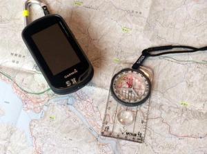 地図とコンパスとGPS